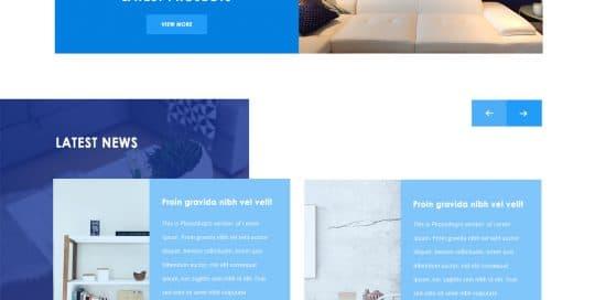 interior designing website template